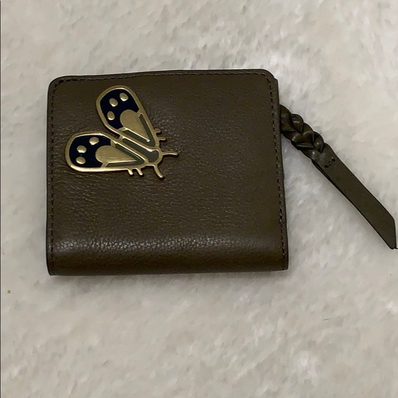 📌 Fossil Olive Green Leather Wallet